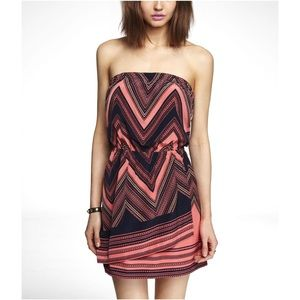 Express Strapless Scarf Printed Dress